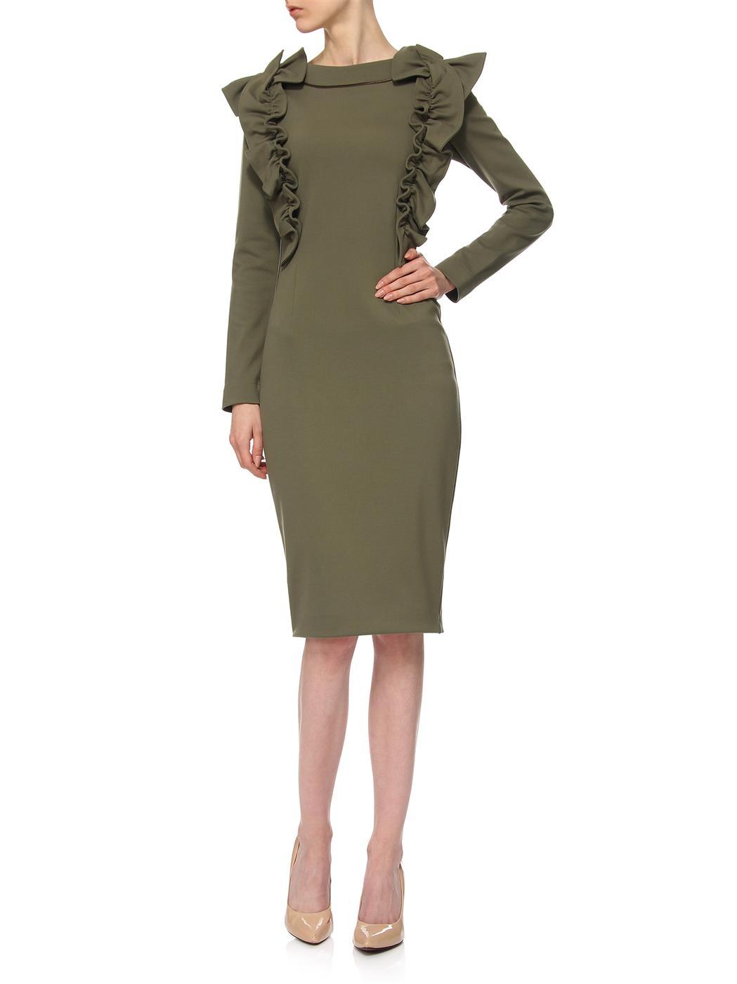 6d42b160cb6 Khaki Kleid YY100062